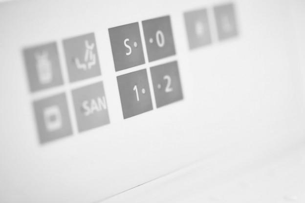 Foto Monitor mit Symbolen