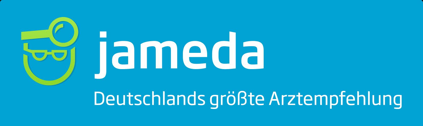 jameda-Logo-mit-Claim-Deutschlands größte Arztempfehlung